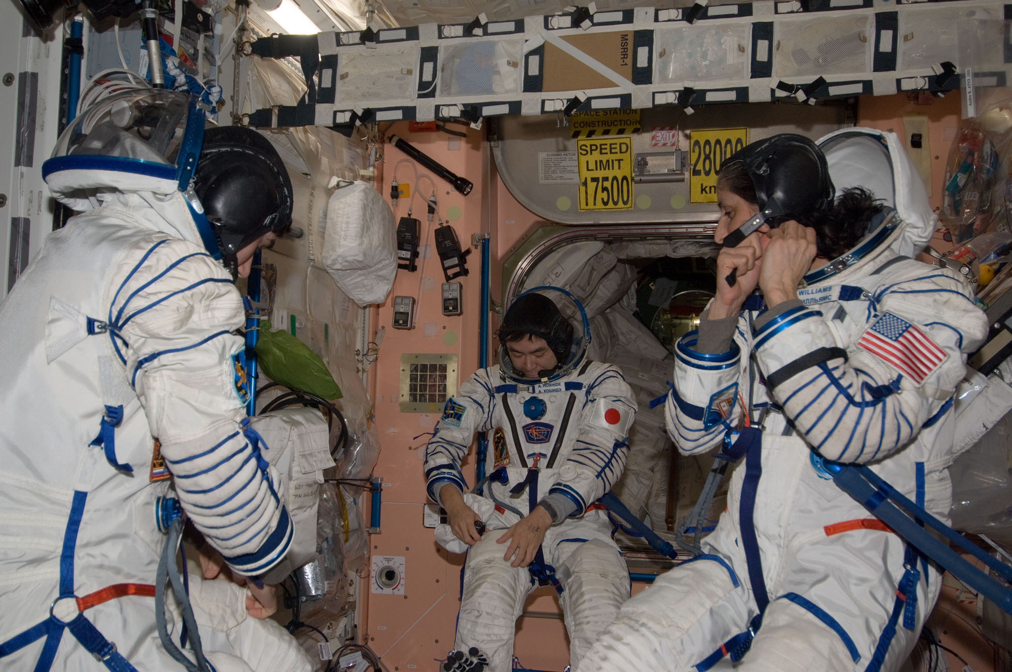 Expedition 33 Landing: All Suited Up
