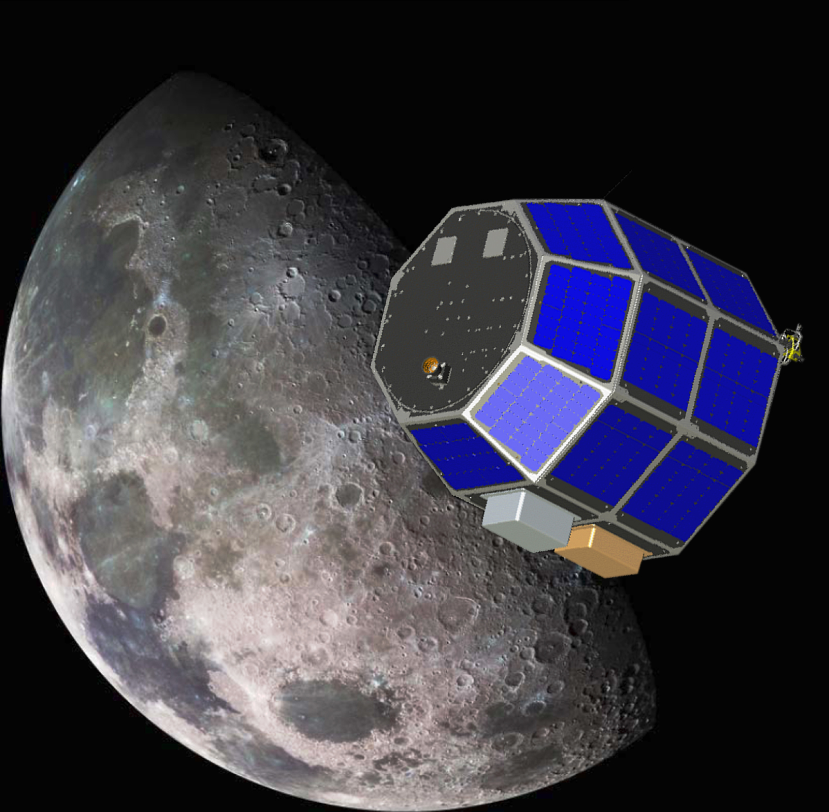 NASA LADEE Moon Mission Art