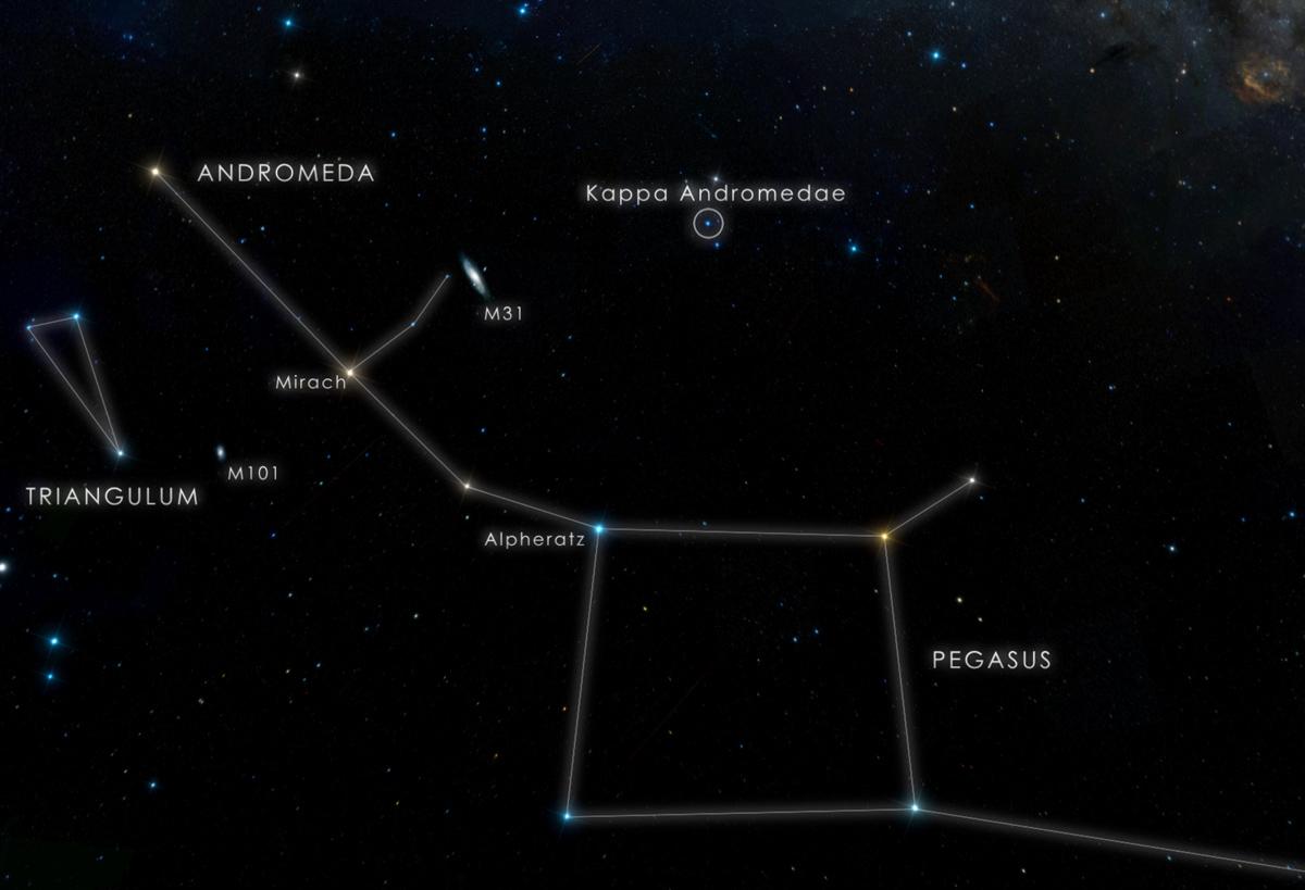 Kappa Andromedae Star Chart