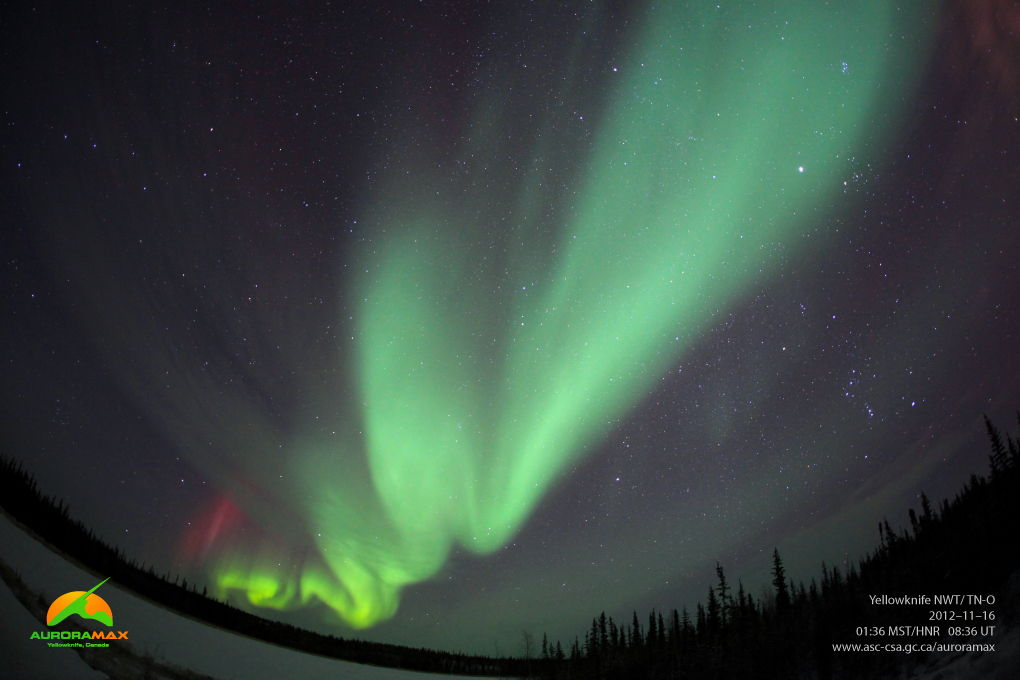 Aurora Over Yellowknife, Canada, Nov. 16, 2012