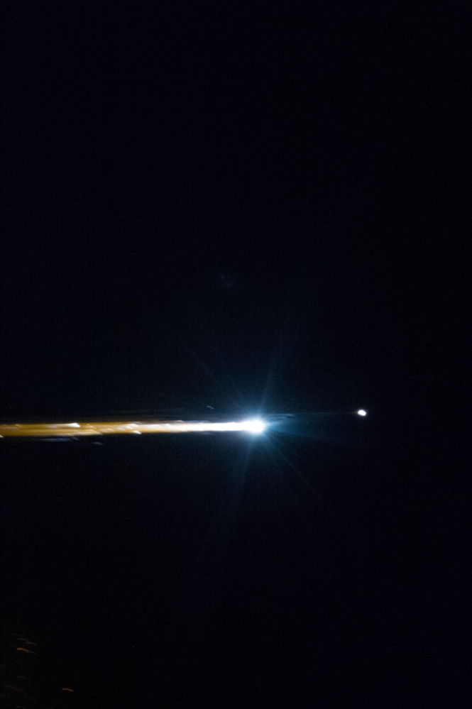 Soyuz TMA-05M Re-Entry Plasma Streak