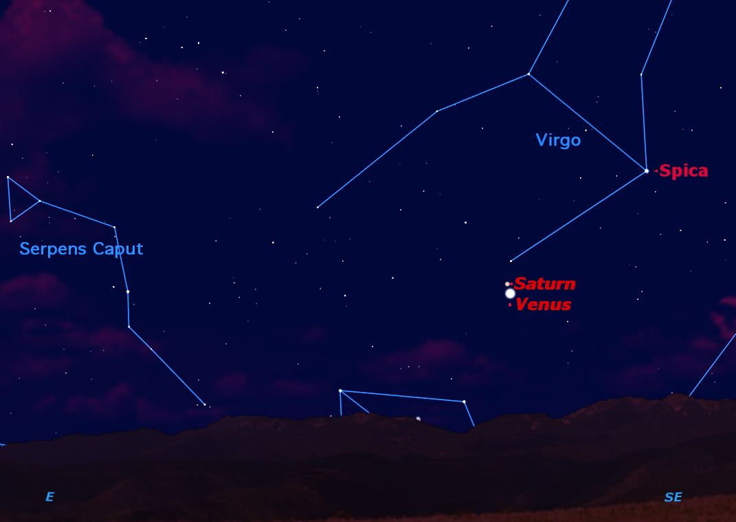 See Venus and Saturn Shine Together Early Tuesday
