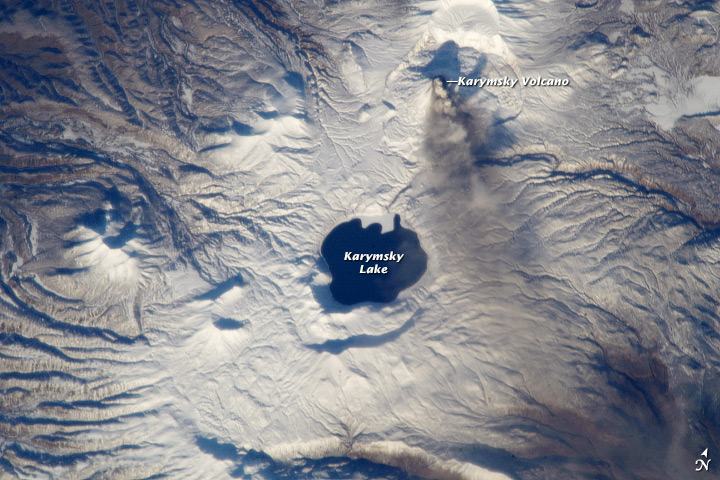 Astronaut Photo Showcases Fire & Ice