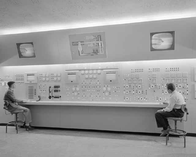 Space history photo control room 10ft x 10ft wind tunnel for 10ft by 10ft room