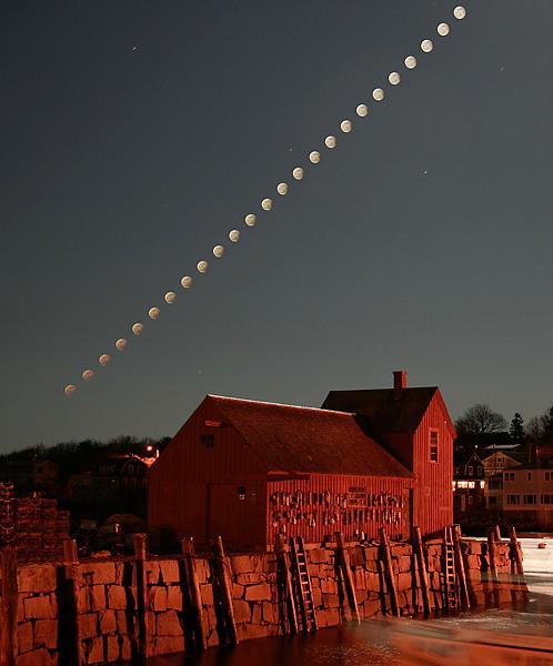 10 de fevereiro - penumbra Eclipse da Lua