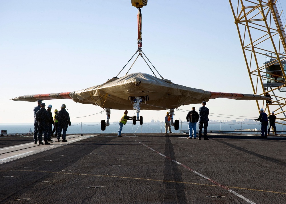 Navy Drone Boards Aircraft Carrier for 1st Time