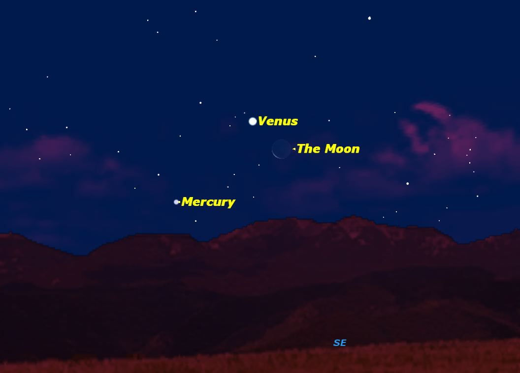 December 2012: Venus and the Moon