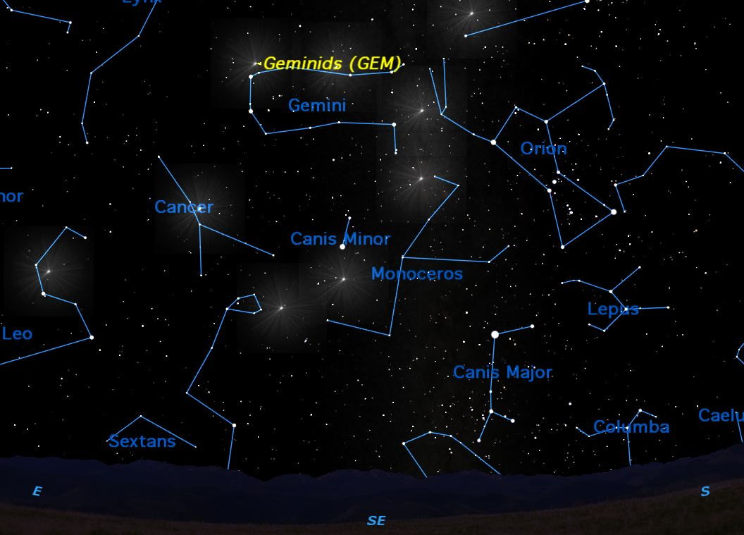 December 2012: Geminid Meteor Shower