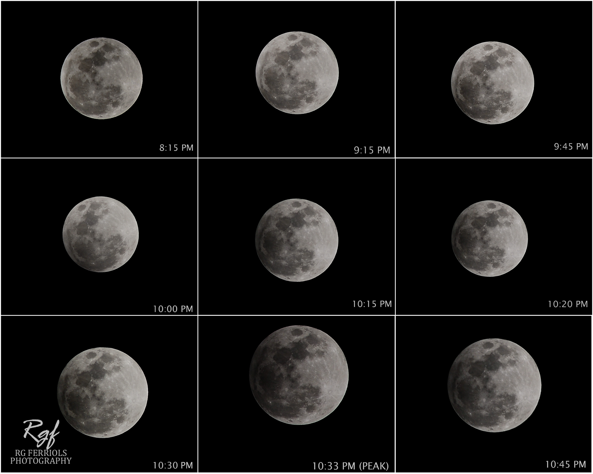 Penumbral Lunar Eclipse Phases of 2012: Rg Ferriols