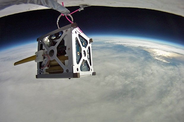 PhoneSat 1.0 Nanosatellite Balloon Test