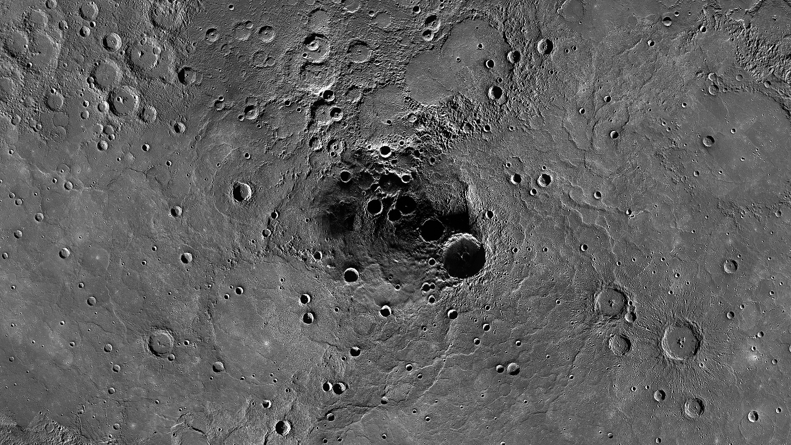 Mercury's North Pole Photo by Messenger