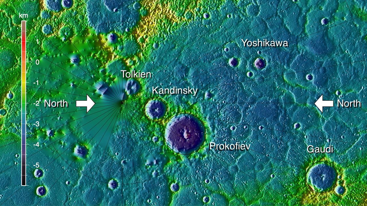 Topography of Northern Mercury