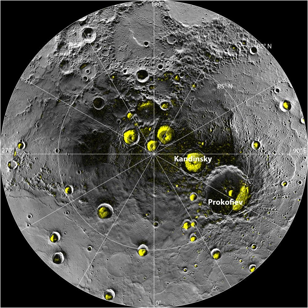 Water Ice Deposits in Mercury's North Polar Region