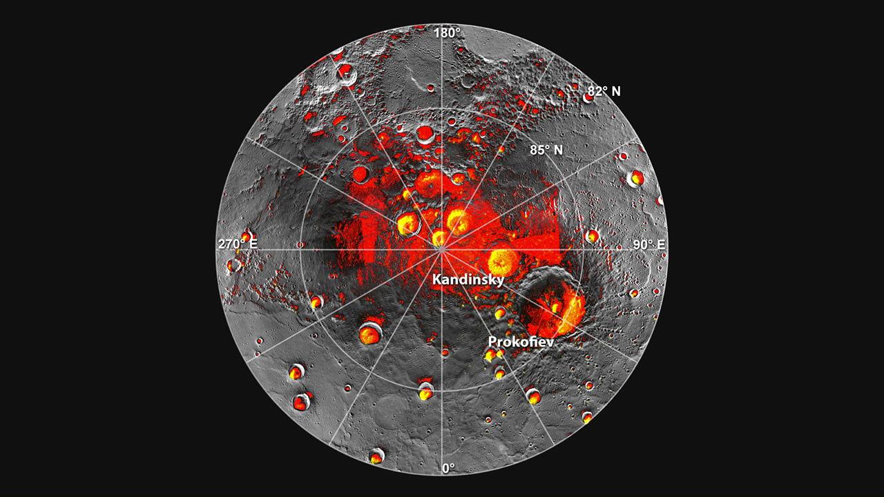 Mercury's North Polar Regions in Shadow