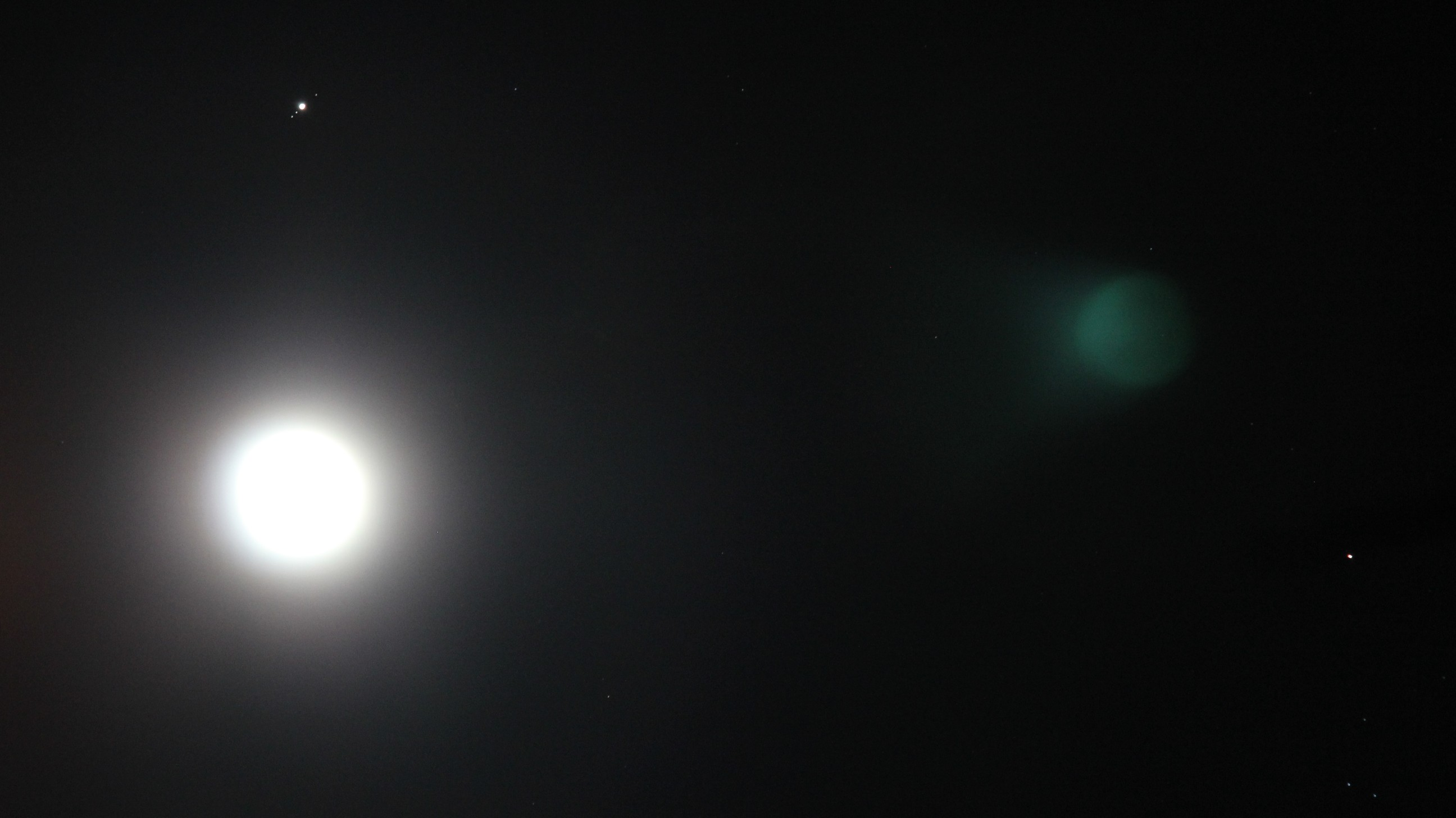 Moon, Jupiter and Aldebaran Over Woodstock, IL
