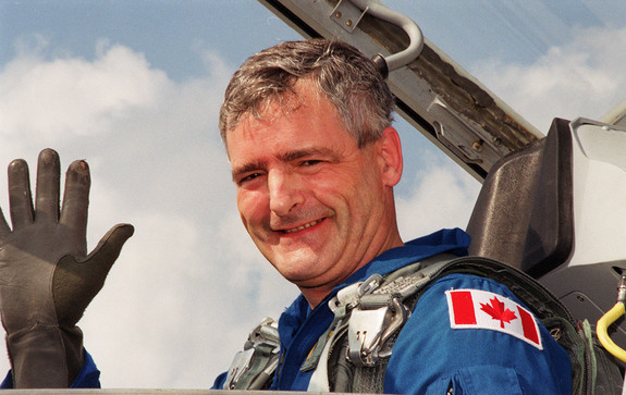 Former Canadian astronaut Marc Garneau in training prior to his last mission in space, STS-97, in 2000.