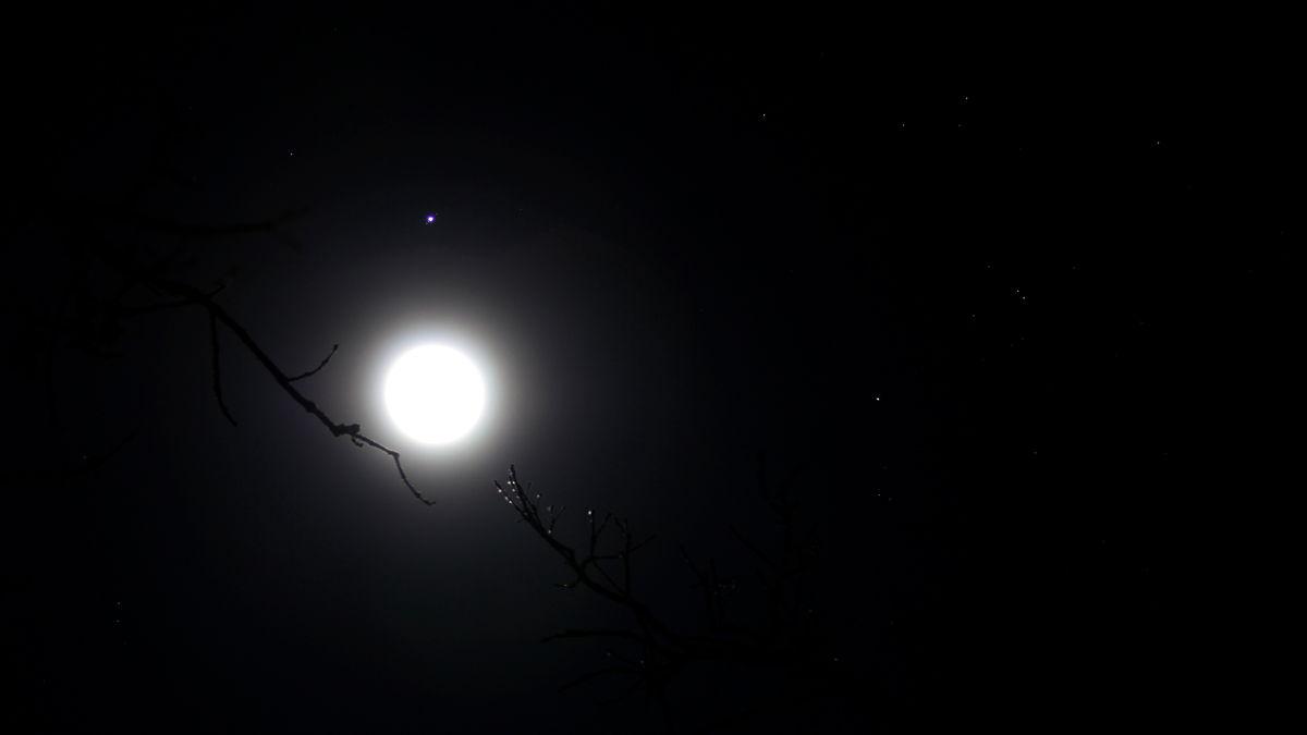 Moon, Jupiter and Aldebaran Over Woodstock, IL #2