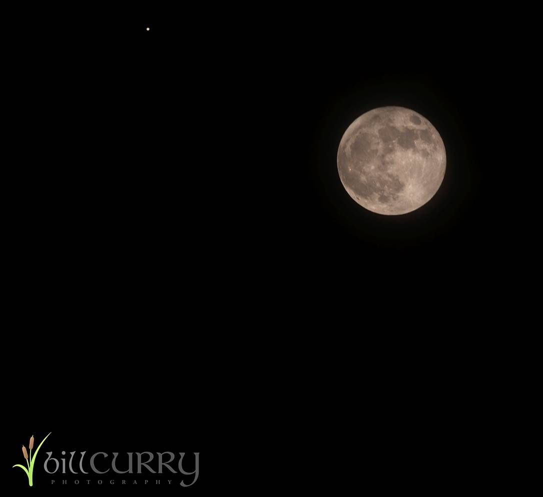 Moon and Jupiter Over Nova Scotia