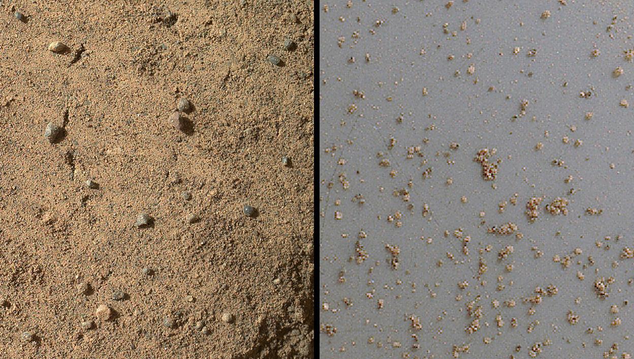 Windblown Sand from the 'Rocknest' Drift