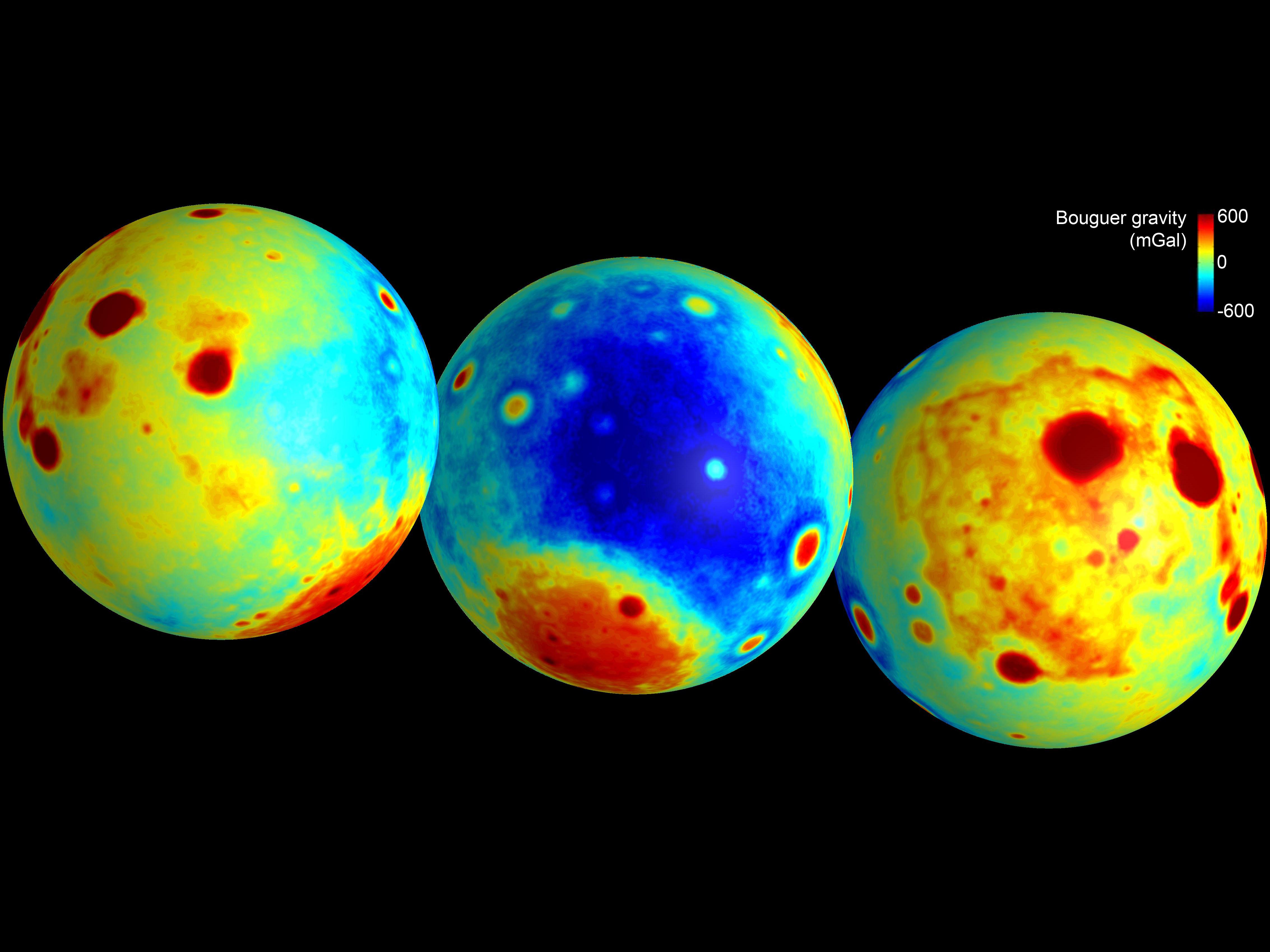 Moon Surprisingly Battered, New Lunar Gravity Map Reveals