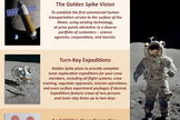 This Golden Spike Company flyer outlines the organization's vision of commercial human lunar missions.