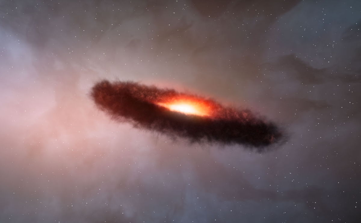 Cosmic Dust Disc Around a Brown Dwarf
