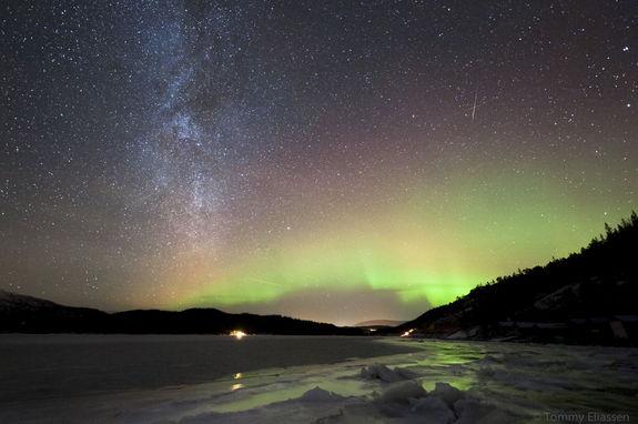 Astrophotographer Tommy Eliassen sent in a photo of Geminid meteors taken over Hemnes, Nordland, Norway, on Dec. 11, 2012.