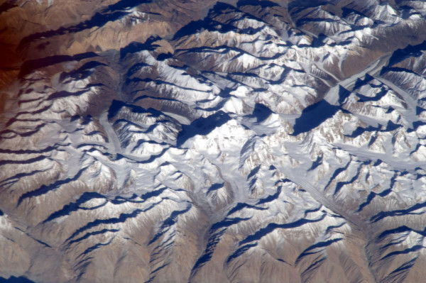 Tall Mountain Photographed From Space Station