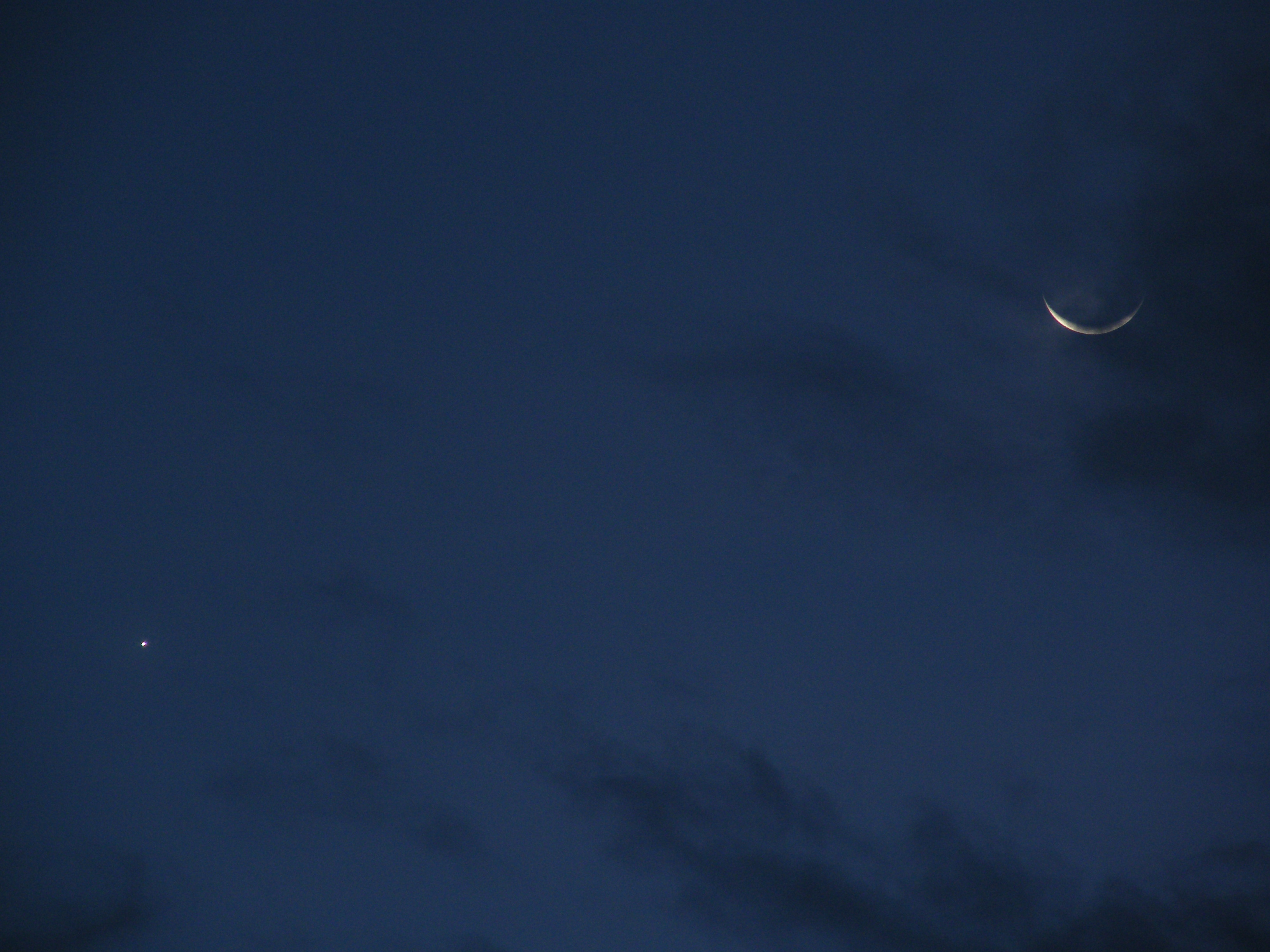 A Wink and a Smile: Venus and Moon Exchange Glances in Night Sky Photo