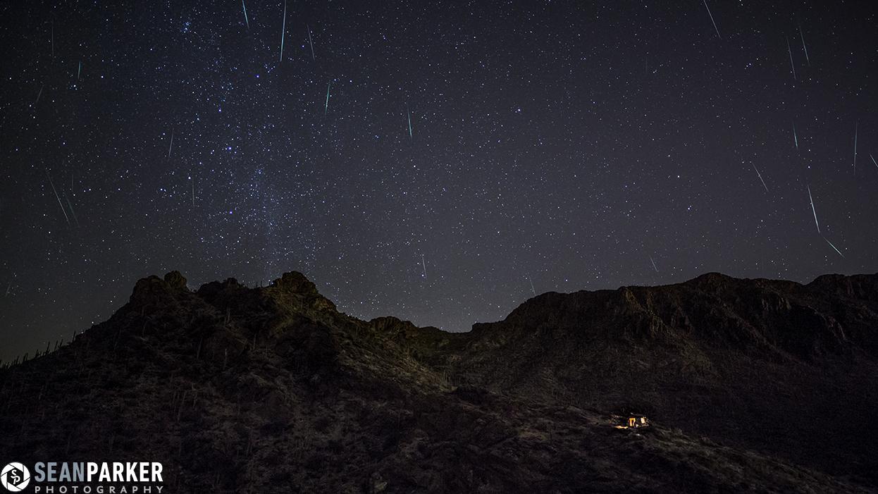 2012 Geminid Meteors over Arizona