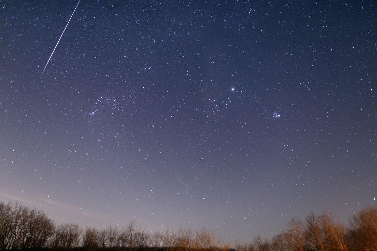 2012 Geminid Meteor Over Freeland, MD