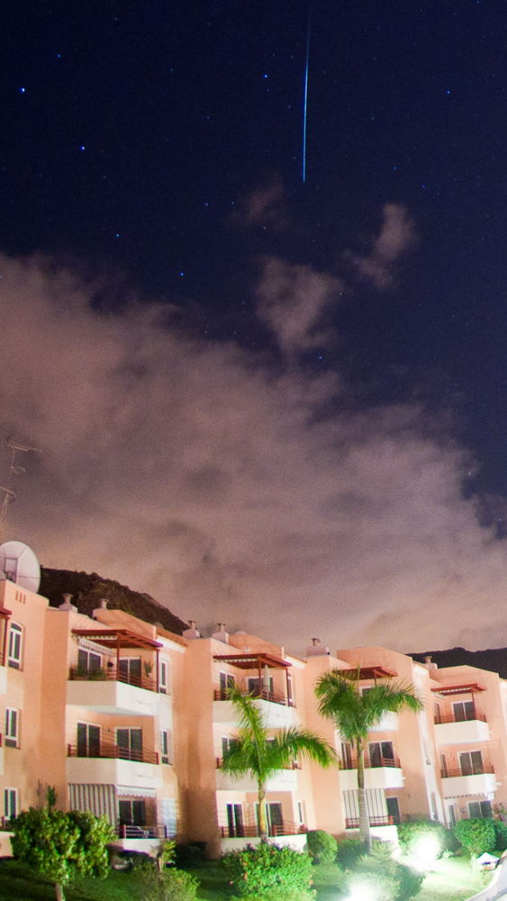2012 Geminid Meteor Over Tenerife, Spain