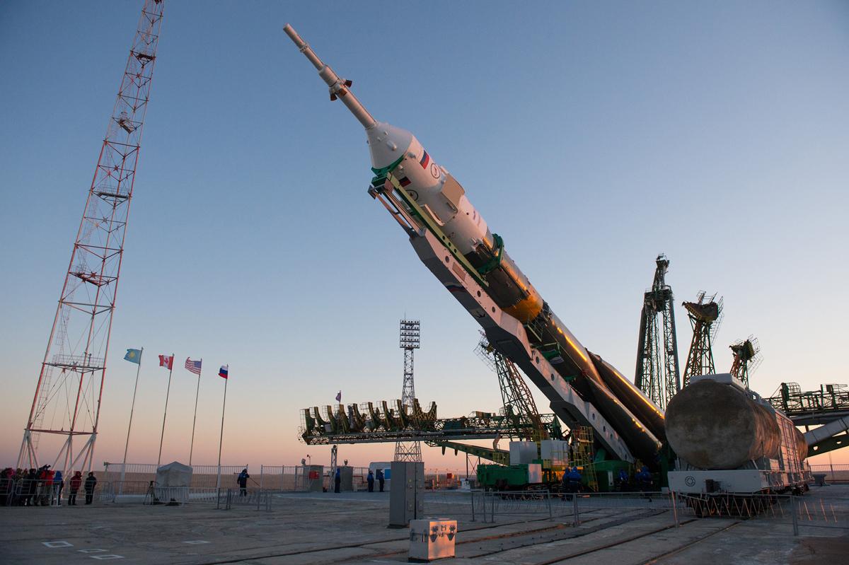 Expedition 34 Soyuz Rocket Erected