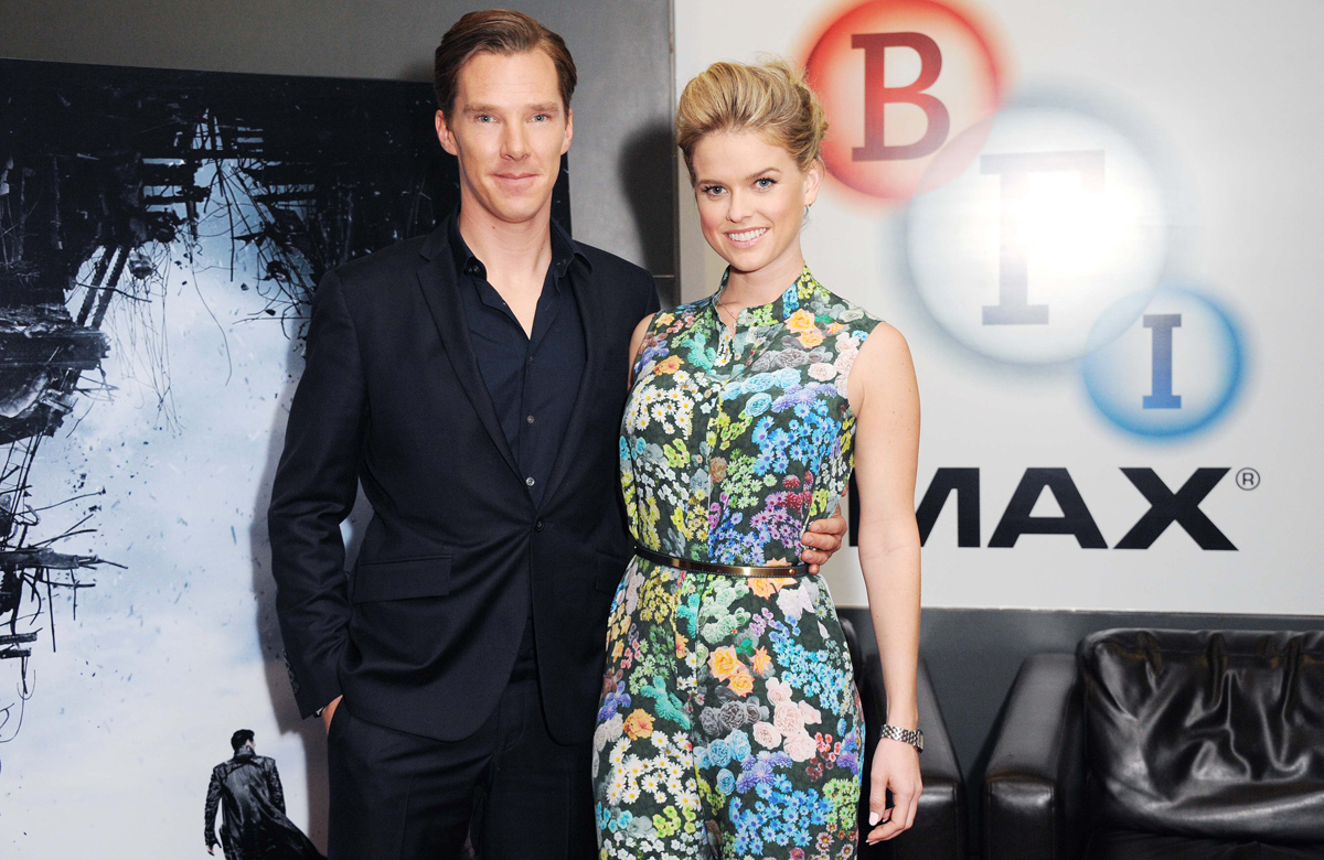 Alice Eve and Benedict Cumberbatch