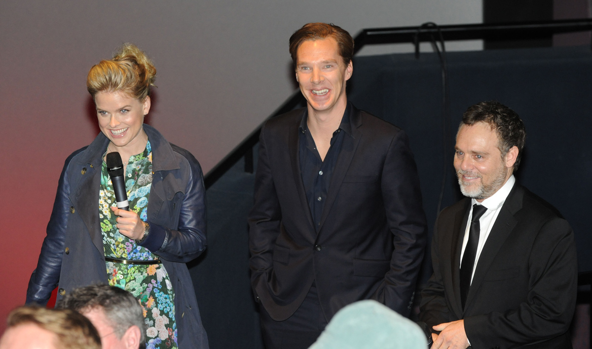Alice Eve, Benedict Cumberbatch and Bryan Burk
