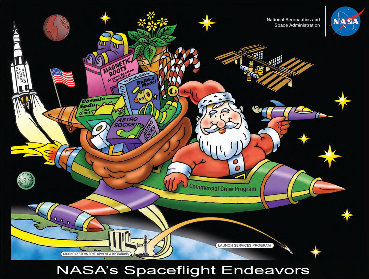 Santa's Got a Brand New Bag-Carrying Spacecraft