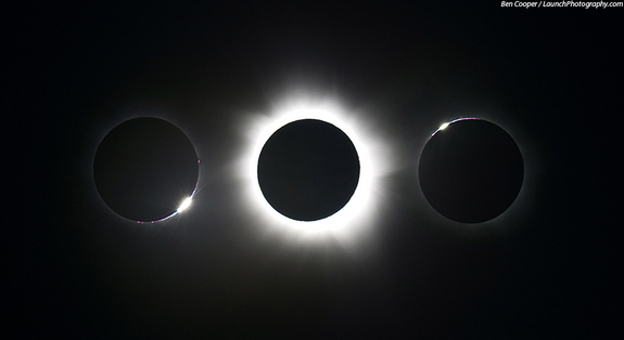 The November 2012 total solar eclipse, as seen by photographer Ben Cooper in Australia.