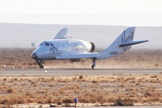 Suborbital SpaceShipTwo makes safe landing after Dec. 19 drop test.
