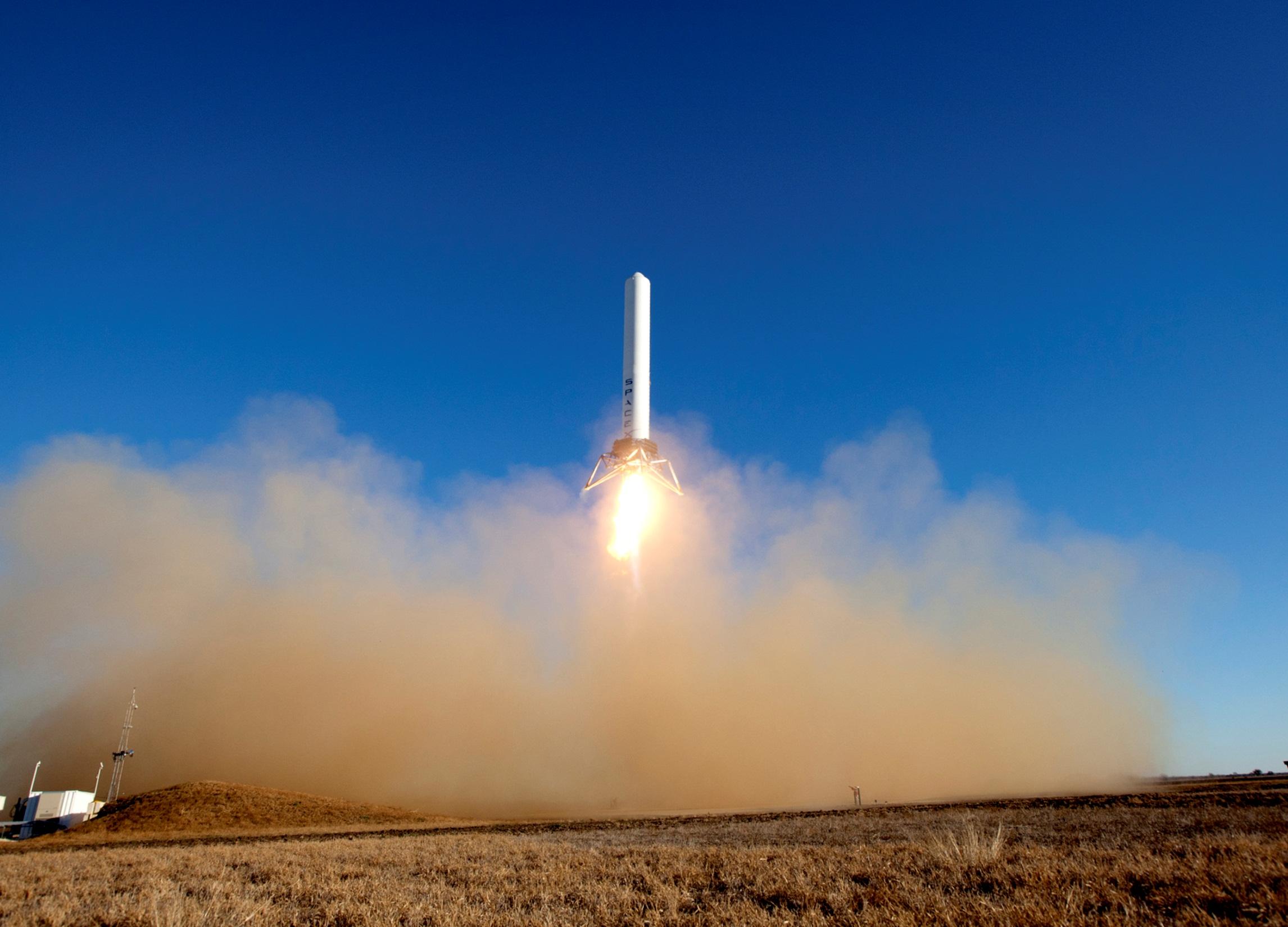 Experimental Private Rocket Makes Highest Test Hop Yet