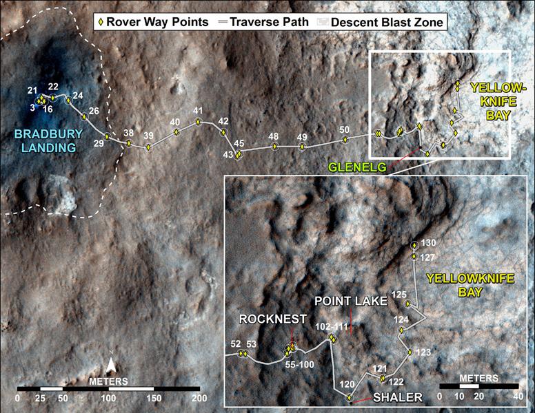 Curiosity's 130th Mars Sol