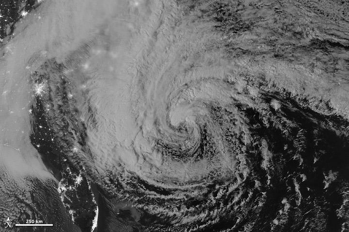 Overnight View of Hurricane Sandy