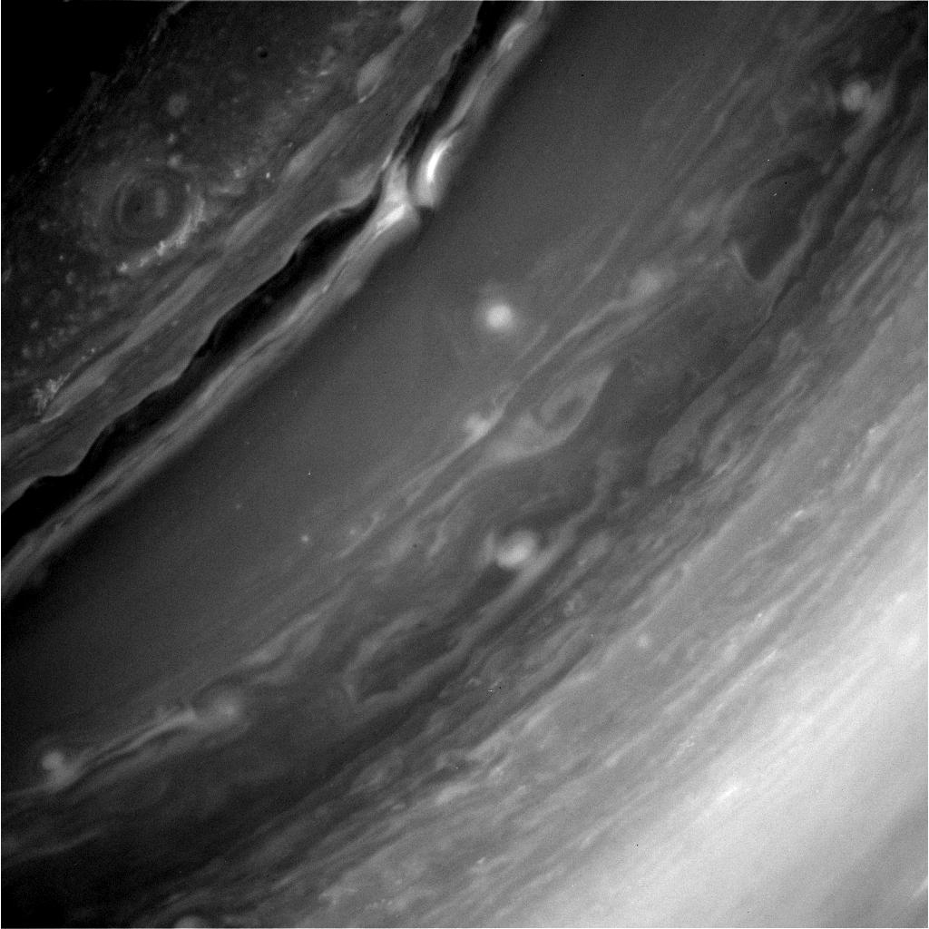Saturn's Turbulent Surface