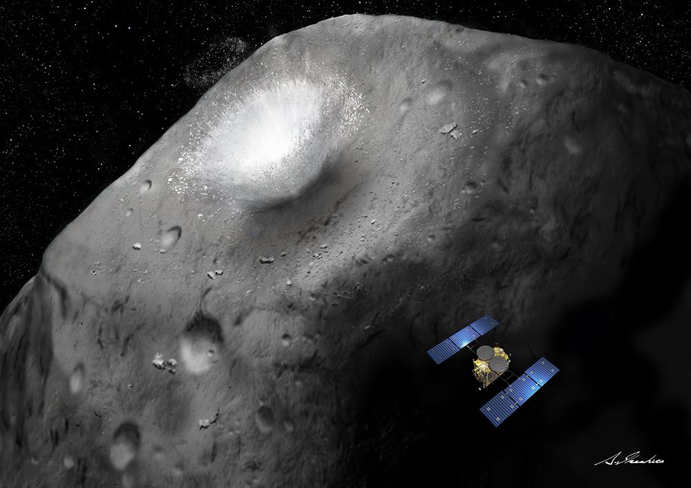 Hayabusa2 Impactor Probe Hits Asteroid