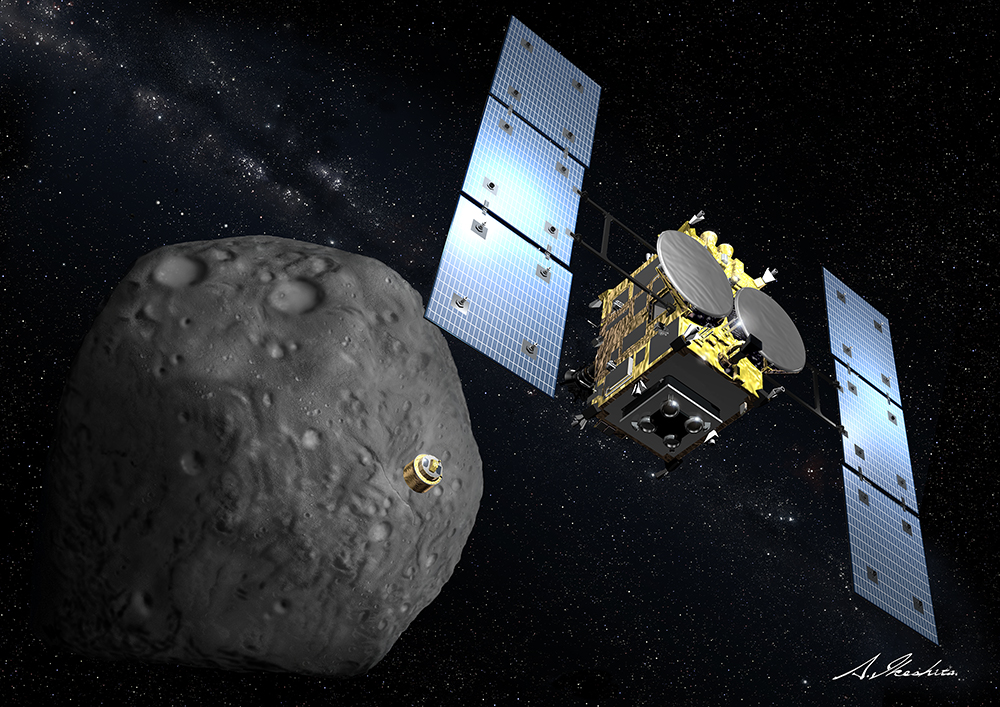 Hayabusa2 Releases Asteroid Probe