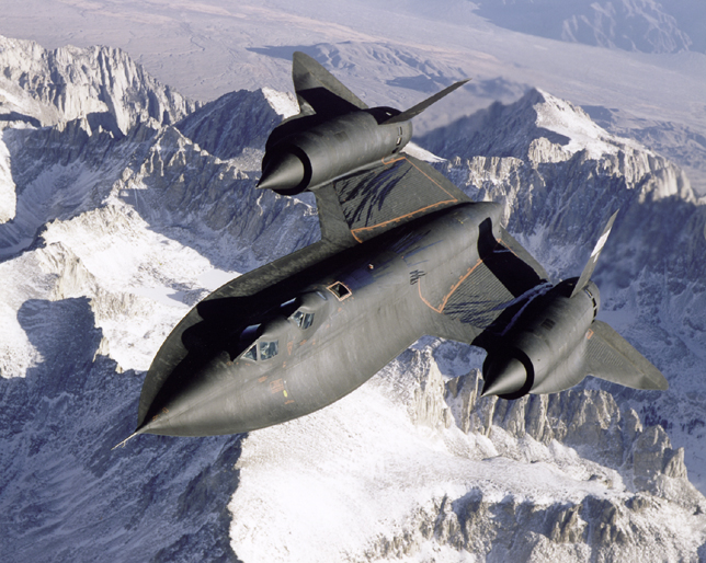 Space History Photo: SR-71 Over Snow Capped Mountains