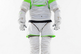 The Z-1 is NASA's next generation spacesuit, a prototype of which is pictured at the Johnson Space Center.