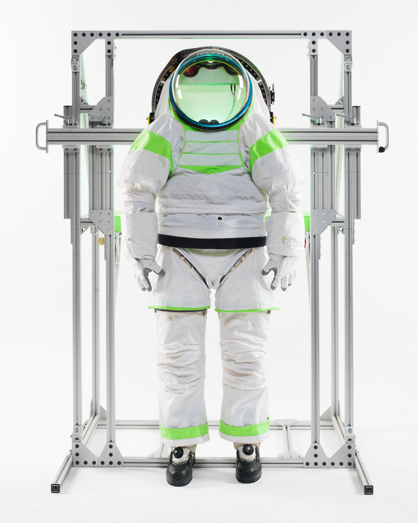 Z-1 Spacesuit Prototype During Testing
