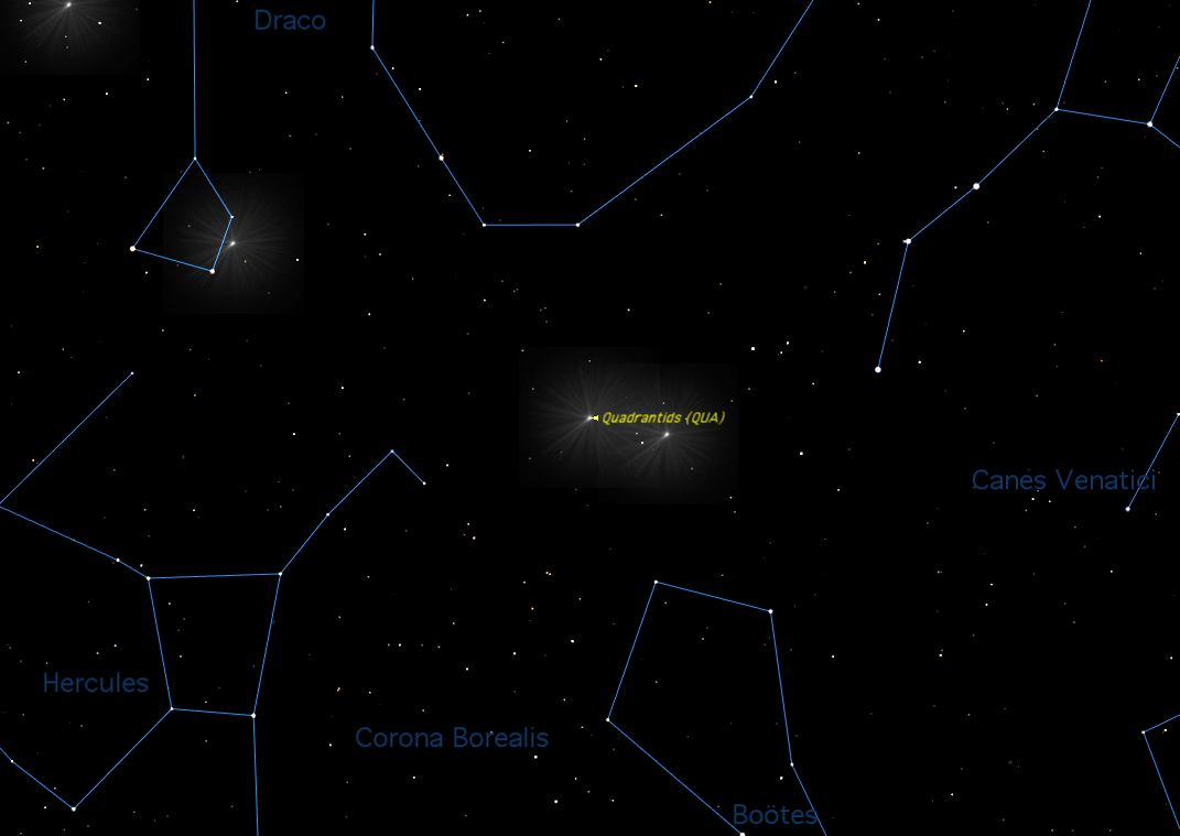 Quadrantid 2013 Sky Map