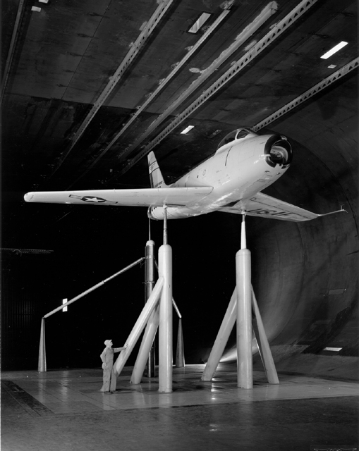 Space History Photo: F-86 in Full Scale Wind Tunnel at Ames