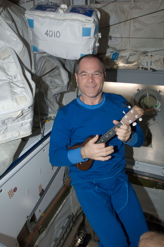Kevin Ford and Ukelele Aboard the ISS